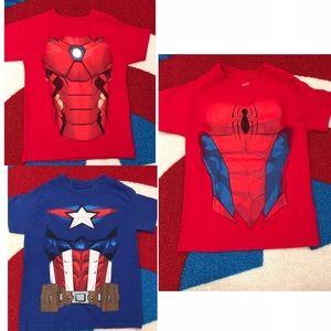 Bundle Of 3 Marvel Toddler Boys Tees